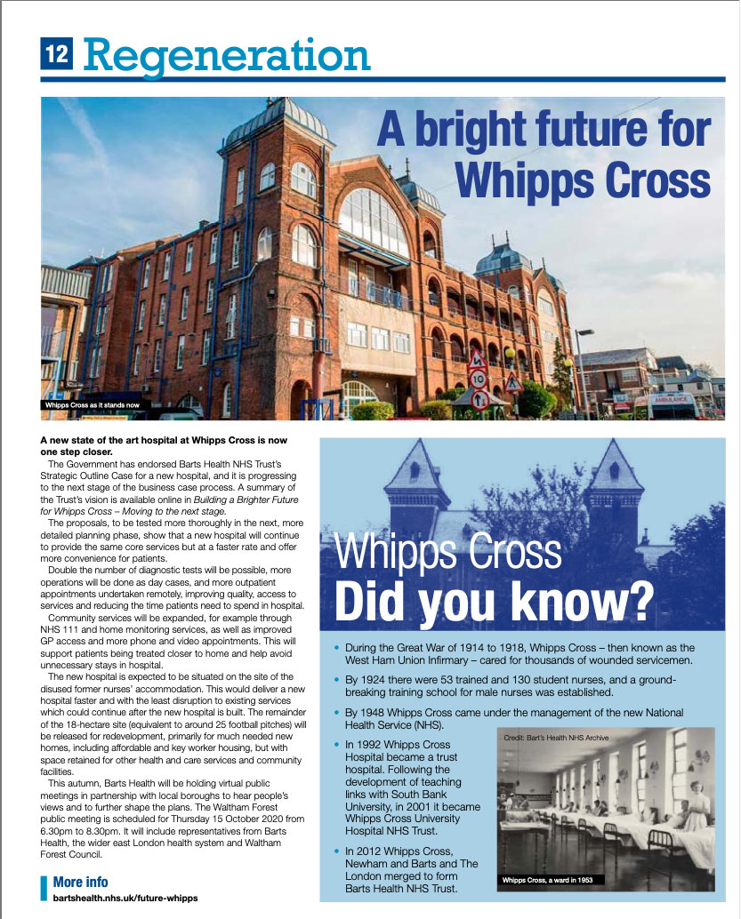 Whipps Cross good news