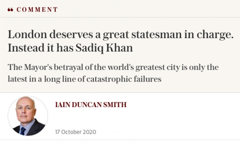 Iain Duncan Smith comment Telegraph
