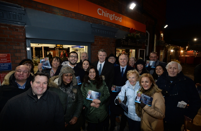 Local Conservatives at Chingford Station with Zac Goldsmith
